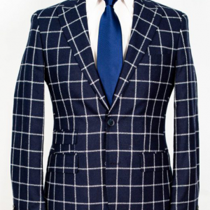 Vitale Barberis – Navy blue with with plaid 2-piece suit